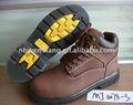 De cuero marrón de goodyear de seguridad botas de trabajo/zapatos