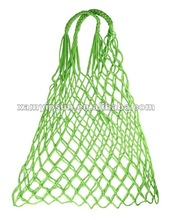 China Supplier Promotional Polyester net shopping bag, Mesh bag with handle