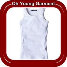 Mens Slim Fitted Elastic Cotton Rib Tank Tops Wholesale In China
