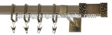 F120136 metal iron aluminium stainless steel brass telescopic aluminum adjustable square double curtain rod