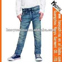 Haoyu blue boot cut jeans (HY7989)
