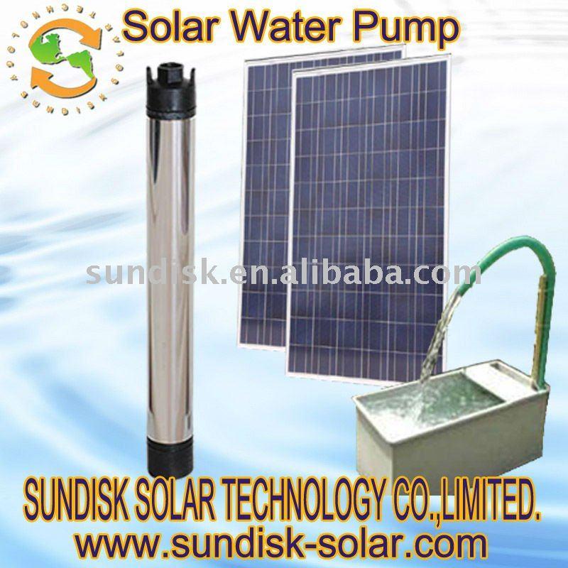 Con energía solar de bombas de agua sumergibles