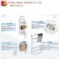 Cocina condimento rack con 6 botella de especias, estante de acero, utensilios de cocina, rack kithchen