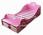 2014 New Design Wooden Sweet Pink Fairy Carton Kids Bed with Storage Box