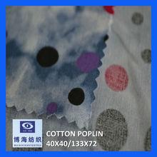 100% Cotton Printed Cotton Poplin Polka Dot