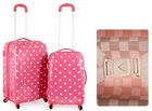 light weight abs pc trolley case set travel luggage bag
