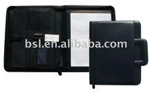 zipper portfolio/A4 Portfolio/PU portfolio wth handle