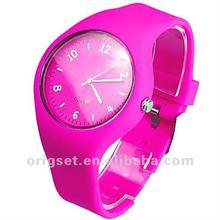 waterproof jelly watch women round face quartz lady watch
