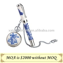 Promotion Gift,blue and white porcelain,pen and pocket watch