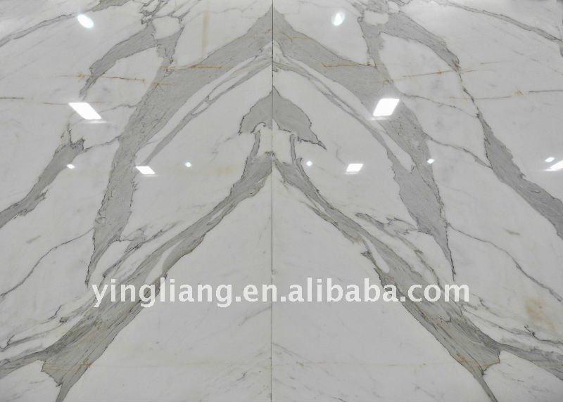 Calacatta blanc marbre bookmatched marbre id du produit 474388043 - Marbre blanc calacatta ...
