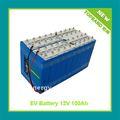 Preço de atacado de alta capacidade 12 V 100Ah bateria de carro elétrico