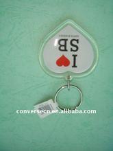 promotion shape acrylic heart keychain