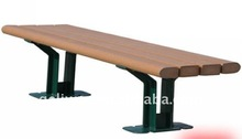 Outdoor bench made from wood plastic composite wpc material