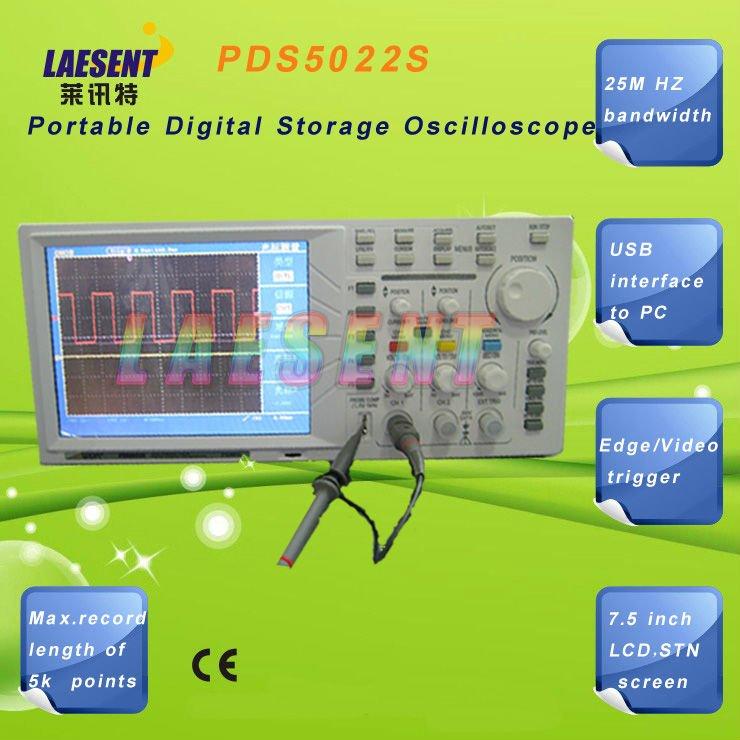 "Owon pds5022s osciloscopio digital 25 mhz 2 canales 7.8"" lcd"