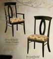 madeira maciça cadeira de jantar