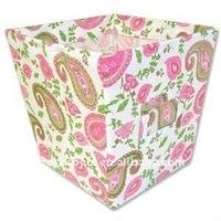 flower fabric storage bin, popular 600D box without lid