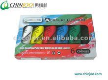 6colors 75ml Acrylic paint