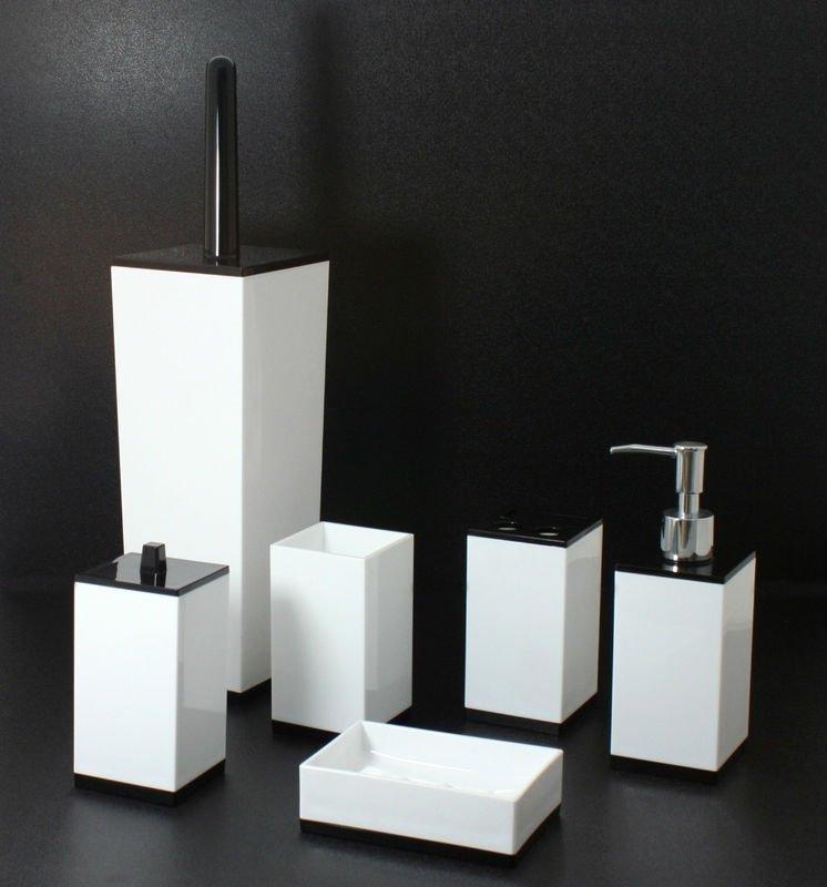 Negro y blanco cuadrados de los ni 241 os de cuarto de ba 241 o accesorios