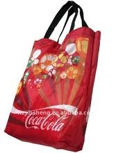 promotional custom print reusable nylon shopping bag