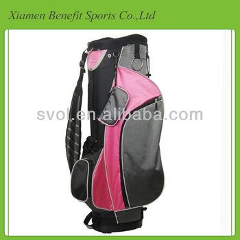 Charming lady golf staff bag
