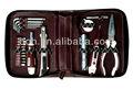 23 pcs mini kit de ferramentas com saco de couro