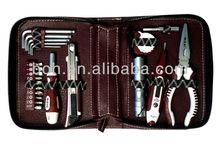 23 unids de herramientas mini - con el bolso de cuero