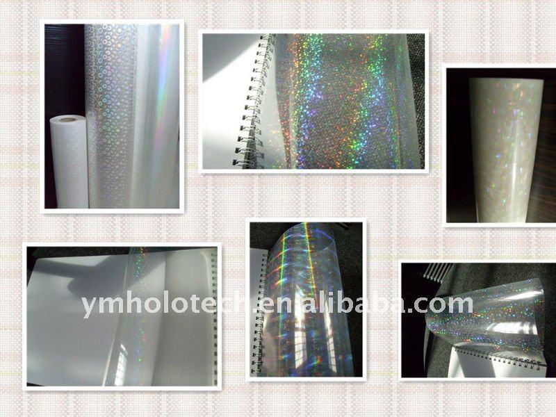 Caliente! Ym alta brillante 12-200mic BOPP laminado del holograma de cine