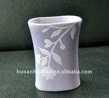 purple ceramic stoneware colorful bathroom set with handpaint