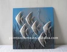 a Group of sea fish wall panels ocean fish wall decorations