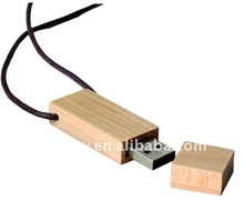 OEM wooden necklace usb 2.0 flash memory driver