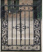black double door wrought iron gate YL-E045