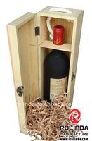 Champagne Magnum Wood Hinged Wine Box