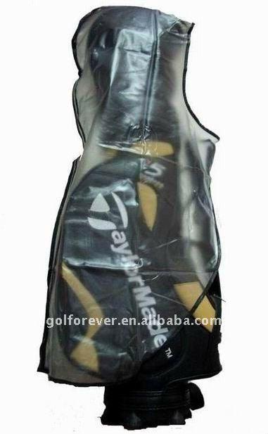 PVC golf bag rain cover