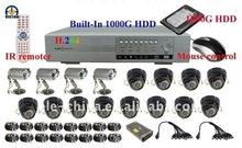 CCTV Surveillance Equipment/ IR Camera and 16CH H.264 DVR Kits