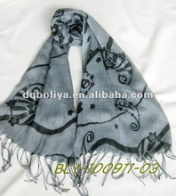 the newest black printing long hot sale lady scarf