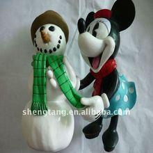 Plástico mickey mouse e boneco de neve brinquedos
