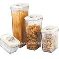 sinoglass 4 pcs cubi tampa de plástico hermético recipiente de armazenamento jar set