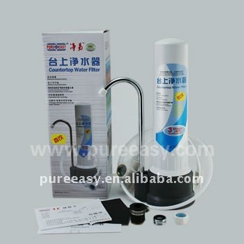 countertop water filter with 0.1 mcron dual ceramic membranes cartridge