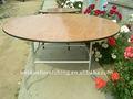 utilisé 150cm bois rond de table de mariage pour la location