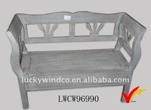 Bergere french wood bench