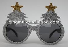 Christmas funny glitter powder fashion party supply sunglass,promotion glasses,eyeglasses