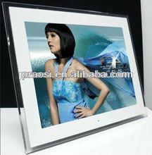 15 frame photo video digital digital frame white tv exhibition stand