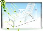 Plastic folding Sun bed Beach lounge chair