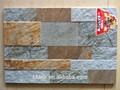 azulejo de la pizarra natural de piedra de aspecto del azulejo de cerámica de la pared de la fachada del azulejo
