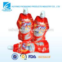 Plastic juice spout pouch bag produce packaging suppliers