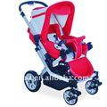 vermelho grande roda de carrinho de bebê de