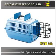 Blue Durable Plastic Pet Carrier