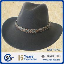 Black Stetson wool felt fedora with nice metal ribbon,