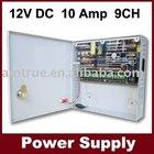 dc12v cctv power distribution box,12VDC 10Amp 9channel CCTV Power Supply(SIWD1210-09C)