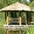 Gazebo de bambu& pavilhão com telhado de palha bg-08